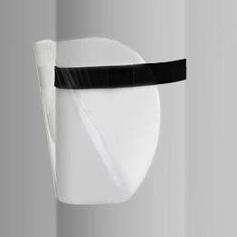Przyłbica ochronna na gumce