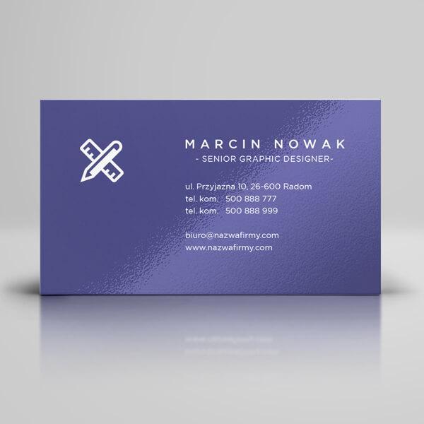 wizytówki z foliowaniem błysk | karty biznesowe